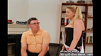 Kinky fuck pegged for the 1st time by a pornstar