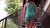 Babe Flashes In Public Apartments