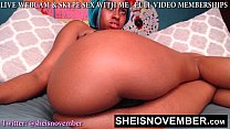 BAD BITCH MSNOVEMBER SHAKING HER HUGE NATURAL TITS ON PETITE BODY & BIG ASS POV