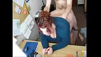 fat redhead fucked in office Thumbnail