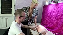 GERMAN STEP MOTHER TEACH VIRGIN SON TO FUCK AND...