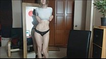 Teen with incredible hot body is dancing - best...