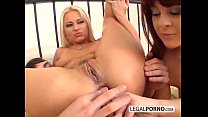 2 horny babes enjoy getting fucked in the ass R...
