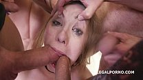 7on1 Double Anal GangBang Selvaggia, Sperma Par...