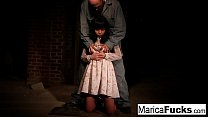 Marica gets stripped and fondled in the basement Thumbnail