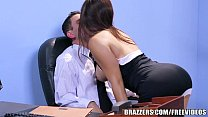 Brazzers - Office stocking  threesome thumb