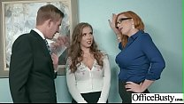 Sex In Office With Big Round Tits Girl (Lauren Phillips & Lena Paul) video-19