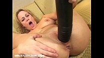Busty milf stretched by brutal dildo - download porn videos