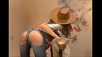 Cowgirl Riding A Dildo