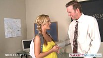 pigtailed nicole aniston suck cock in classroom