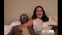 Mature interracial couple enters the exciting w...