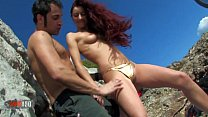 Cute young spanish babe fucked hard outdoors)