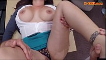 Busty milf pawns her pussy to earn money for he...