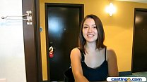 Innocent teenie with a boyfriend fake casting f...