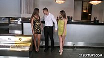 Threesome in the hotel bar - HD porn video PornHD.com