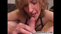 mouth in cumshot with blowjob gives mom Amateur
