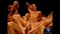 Hot chicks soaked in oil waiting for Rocco Siff... Thumbnail