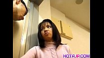 Japanese AV Model with big jugs has snatch licked and frigged thumbnail