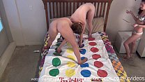 naked twister and hot kissing girls with tongue