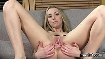 Nasty czech cutie opens up her slim cunt to the...
