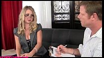Realpornstudio.com blond office girl comes in f...