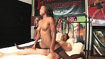 Ebony teen Ivy Sherwood rides stud's dong rever...