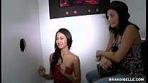 Brandi Belle and Amia Miley go to a Glory Hole