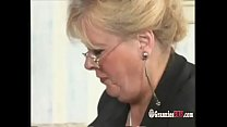 Chubby Germa n Granny Blonde Loves To Ride Big Hard Cock