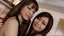 Japanese idol Nao and a horny girlfriend drive ...