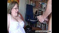 Amateur Milf with big tits sucks and fucks with...