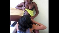 African lesbian makes her lovers pussy soaking wet