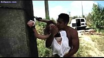 Chained babe gets licked and fucked - download porn videos