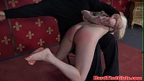 Ginger sub whipped and spanked by maledom
