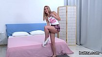 Ravishing tight teenie gets her tight slit and ...