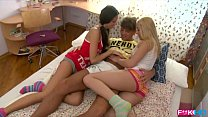 threesome room dorm intense coeds Russian