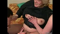 Hairy Granny gets dildoed before fucks with you...