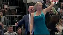 Maria Sharapova Dances With A Spectator Bnp Paribas Showdown 2012