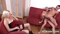 blonde joins hardcore bisex male couple