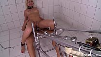 Submissive Lucy Heart chained and fucked hard b...