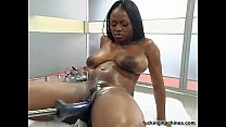 Hot Busty black girl wilth Fuckingmachine Thumbnail