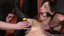Tied Elise Graves pussy punished and hardcore b...