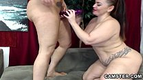 Two lesbians with big ass & tits equal double t...