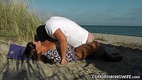 Slutwife fucked by lots of strangers during summer vacation