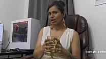 Mommy's Indian friend HornyLily flirts and pees...
