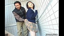 street. the on kinky gets mochizuki seire Schoolgirl