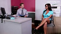 Office sex intercourse featuring brunette cowgirl with big tits Klaudia Hot  1182065