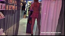 Hidden camera: Showing off naked in a store Thumbnail