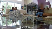 SpyFam Step sister Lena Paul fucked while dad w...