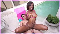 BANGBROS - Amy Shorts Is A Skinny Black Girl Wi...