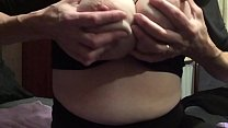 My wife big tits force to show